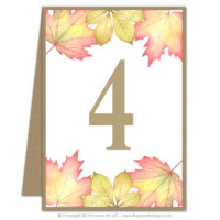 Fall Foliage Table Numbers