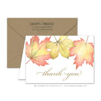 Fall Foliage Thank You Cards