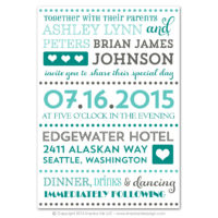 Fancy Typography Flat Invitations