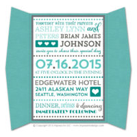Fancy Typography Gatefold Invitations