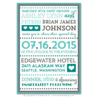 Fancy Typography Layered Invitations