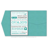 Fancy Typography Pocket Fold Invitations