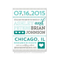 Fancy Typography Save the Dates
