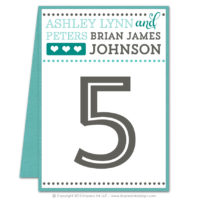 Fancy Typography Table Numbers