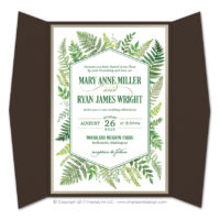 Ferns Gatefold Invitations