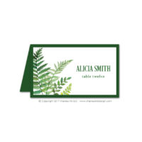 Ferns Place Cards