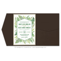 Ferns Pocket Fold Invitations