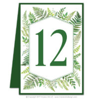 Ferns Table Numbers