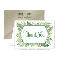 Ferns Thank You Cards