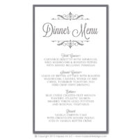 Filigree Monogram Menus