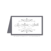 Filigree Monogram Place Cards