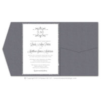 Filigree Monogram Pocket Fold Invitations