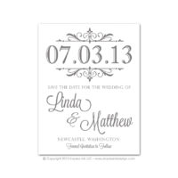 Filigree Monogram Save the Dates