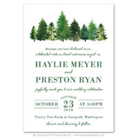 Forest Flat Invitations