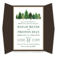 Forest Gatefold Invitations