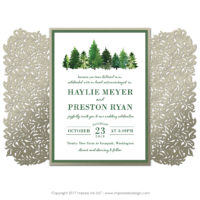 Forest Lasercut Invitations