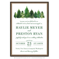 Forest Layered Invitations