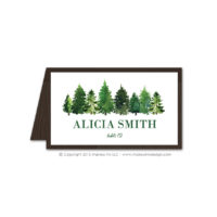 Forest Place Cards
