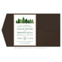 Forest Pocket Fold Invitations