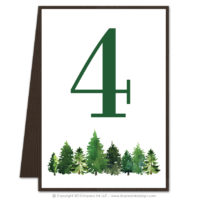 Forest Table Numbers
