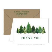 Forest Thank You Cards