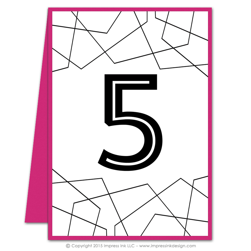 Fragment table numbers impress ink stationery design for Table design numbers