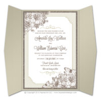 French Peony Gatefold Invitations