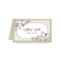 French Peony Place Cards