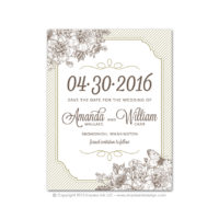 French Peony Save the Dates