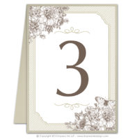 French Peony Table Numbers