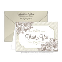 French Peony Thank You Cards