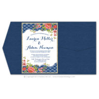 Italian Riviera Pocket Fold Invitations