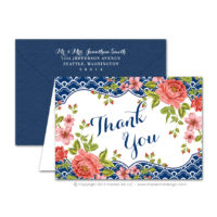 Italian Riviera Thank You Cards