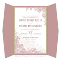 Lace Flourish Gatefold Invitations