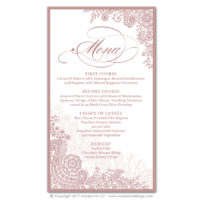 Lace Flourish Menus