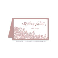 Lace Flourish Place Cards