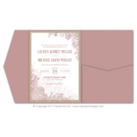Lace Flourish Pocket Fold Invitations