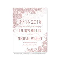 Lace Flourish Save the Dates