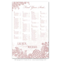 Lace Flourish Seating Charts