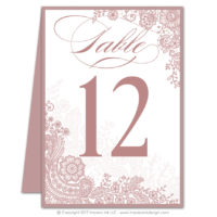 Lace Flourish Table Numbers