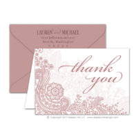 Lace Flourish Thank You Cards