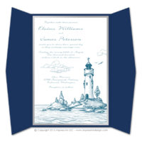 Lighthouse Gatefold Invitations