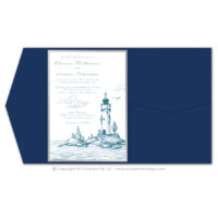 Lighthouse Pocket Fold Invitations