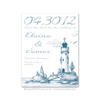 Lighthouse Save the Dates
