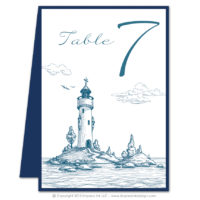 Lighthouse Table Numbers