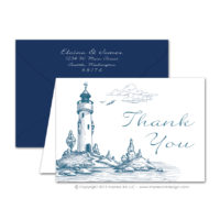 Lighthouse Thank You Cards