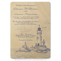 Lighthouse Wood Cards