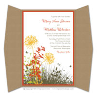 Meadow Gatefold Invitations