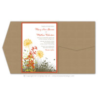 Meadow Pocket Fold Invitations