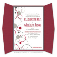 Modern Circles Gatefold Invitations
